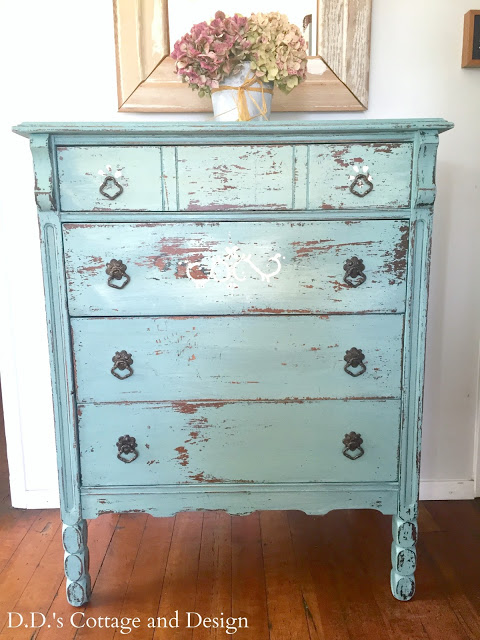 DD's Cottage and Design - Vintage Dresser - Milk Paint