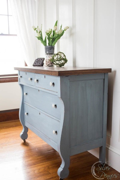 Finding Silver Pennies - Empire Dresser - Milk Paint