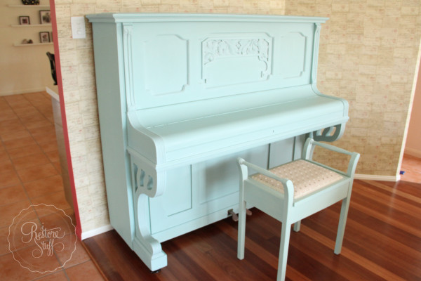 i Restore Stuff - Piano - Milk Paint