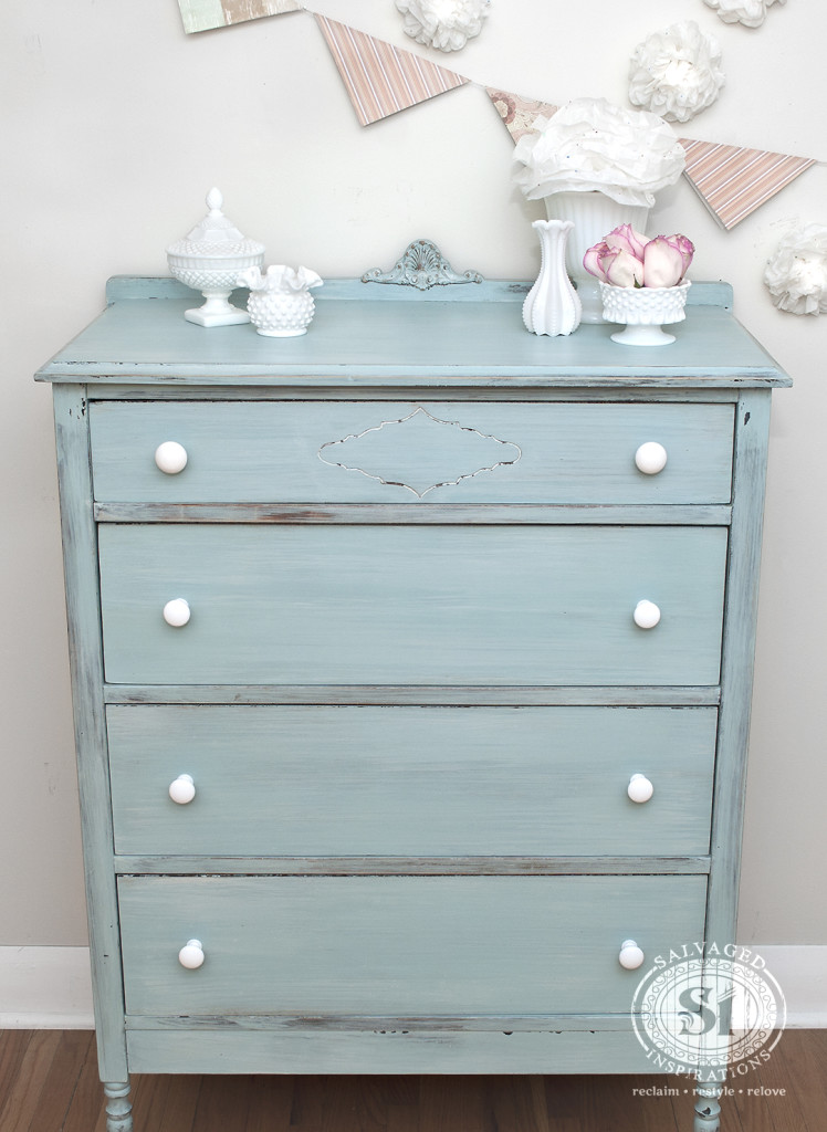 Salvaged Inspirations - Beach or Spring-Inspired Dresser - Milk Paint