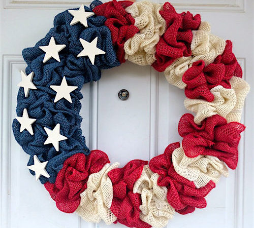 How to Make a Burlap Wreath - Patriotic Burlap Wreath