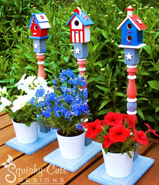 Squishy Cute Designs - Patriotic Birdhouses