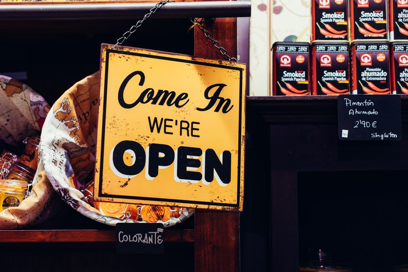 Small Business - Open Store Sign