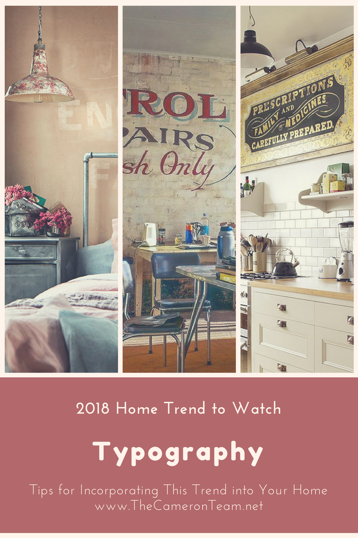 2018 Home Trend to Watch: Typography
