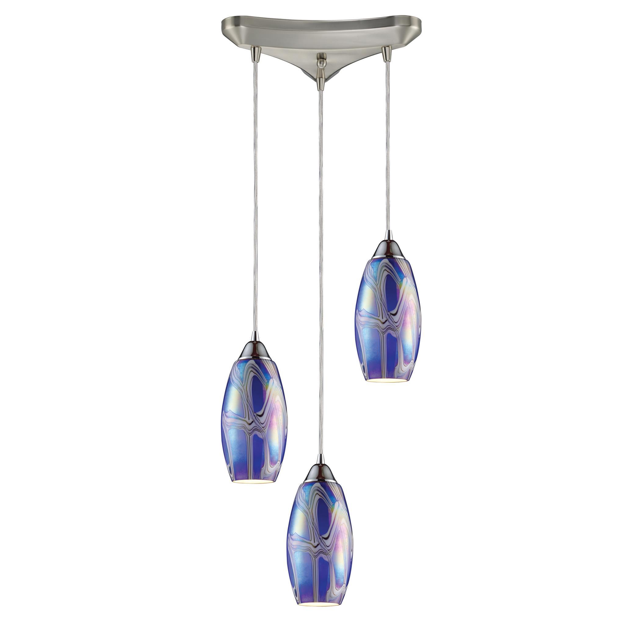 Storm Blue Iridescent Pendant Lights - Elk Lighting