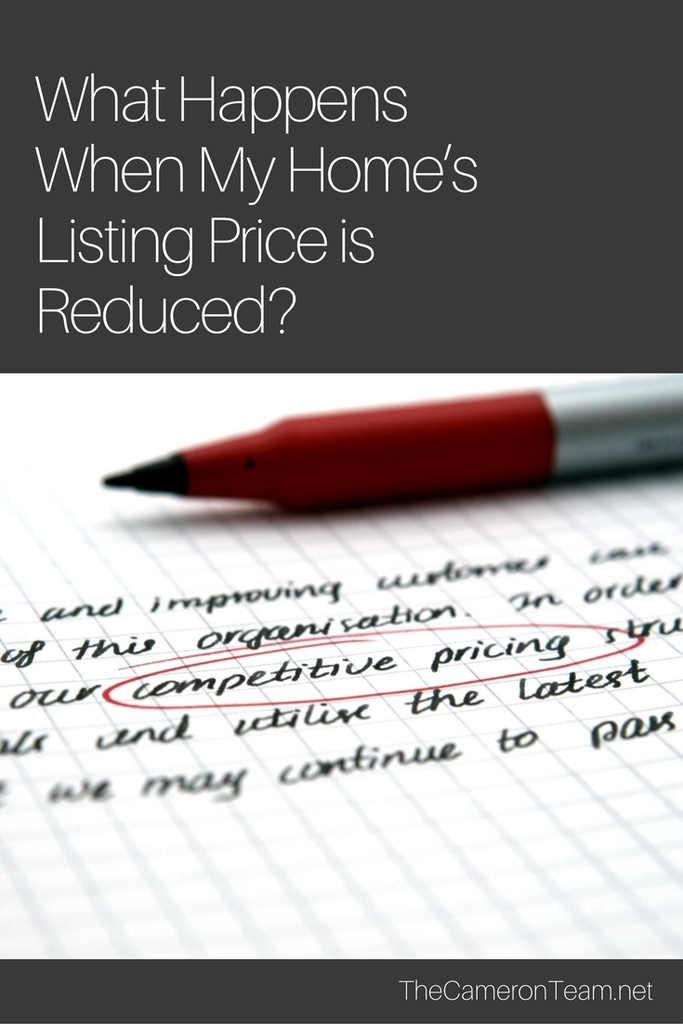 What Happens When My Home's Listing Price is Reduced?