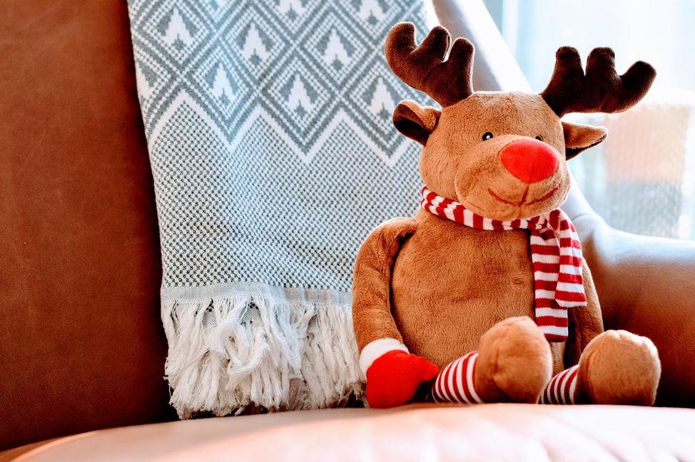 Christmas Reindeer on Chair