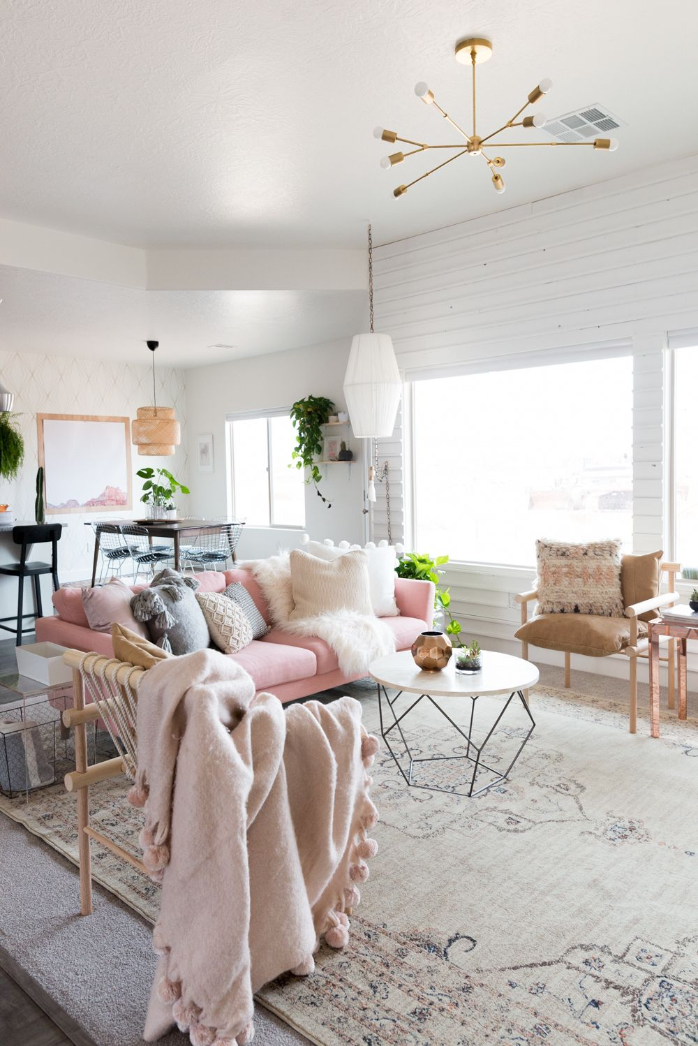 Blush Living Room - Vintage Revival