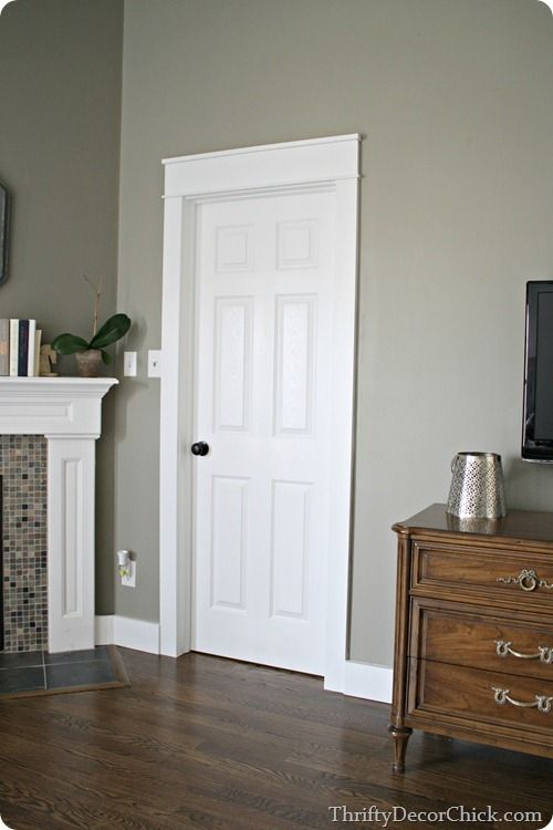 Craftsman Door Trim - Thrifty Decor Chick