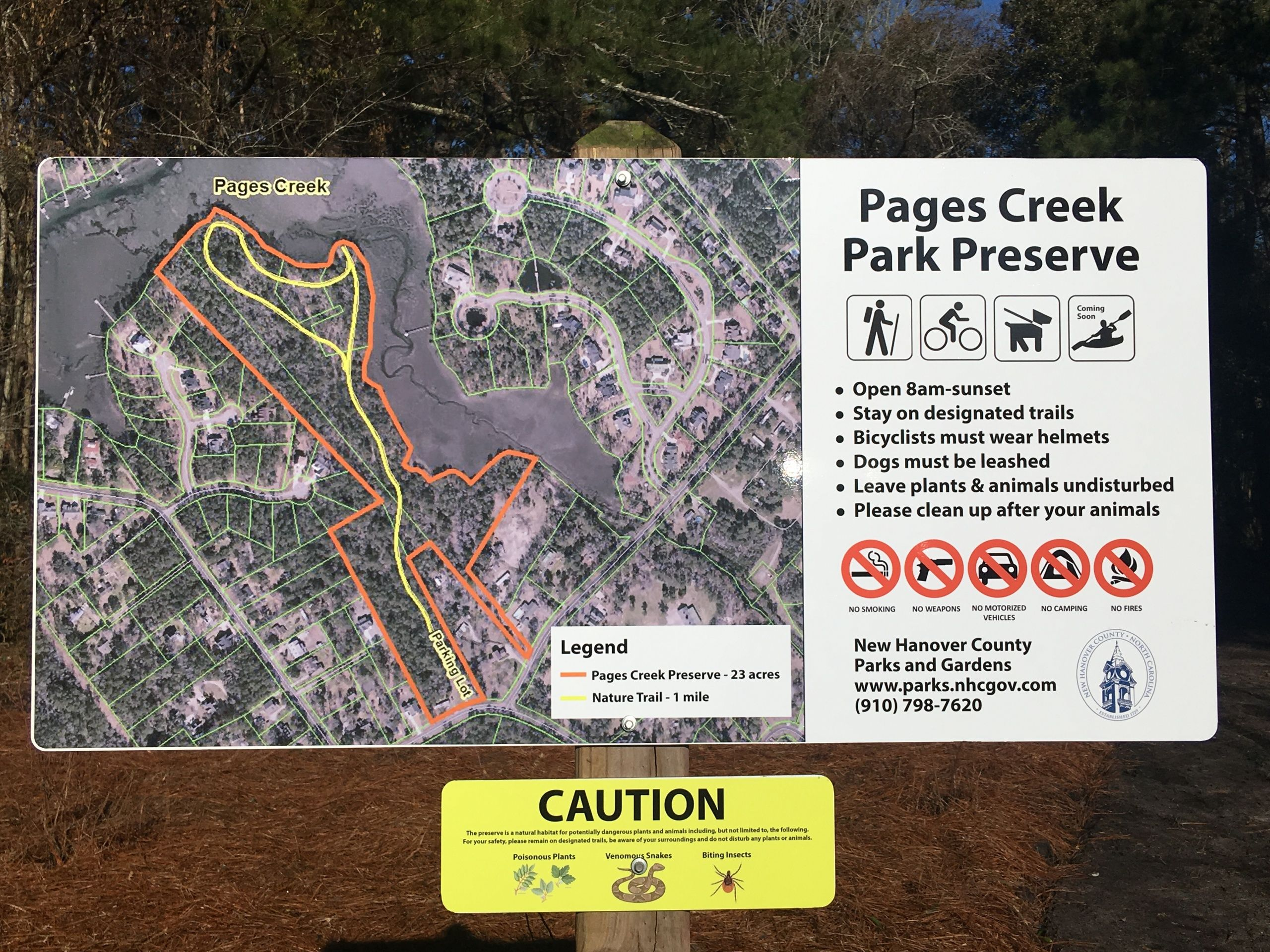 Pages Creek Park Preserve in WIlmington NC