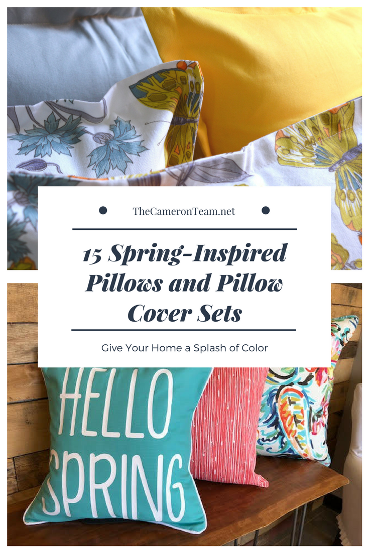 15 Spring-Inspired Pillows and Pillow Cover Sets