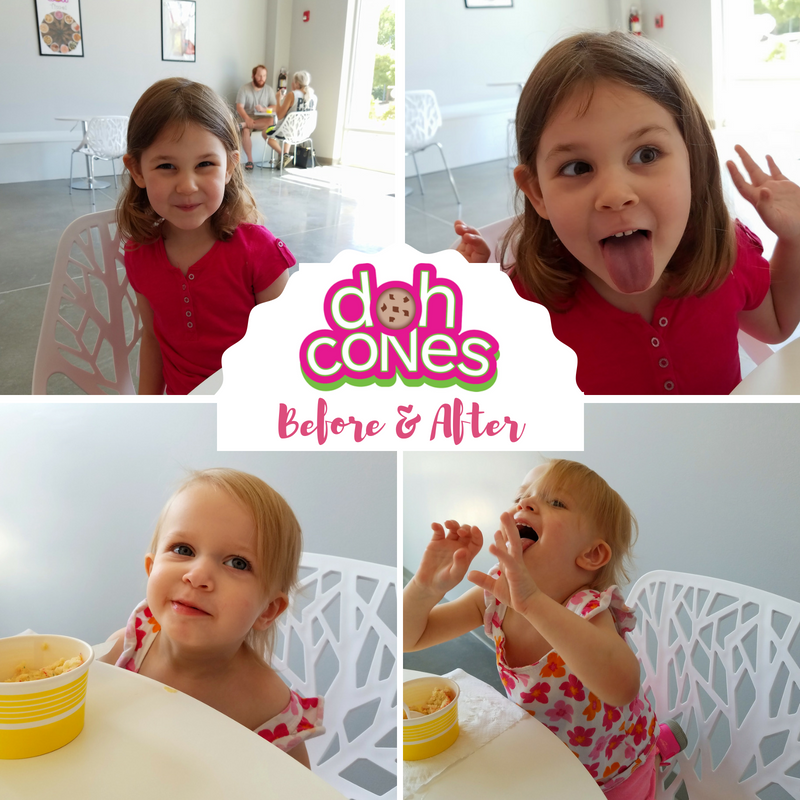 Doh Cones Edible Cookie Dough - Wilmington NC - Before & After