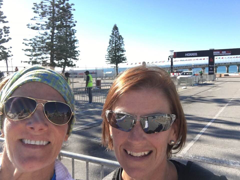 Mary Lynne and Melanie at Ironman 70.3 World Championship in South Africa
