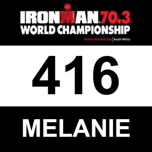 Melanie's Bib Number - Ironman 70.3 World Championship in South Africa