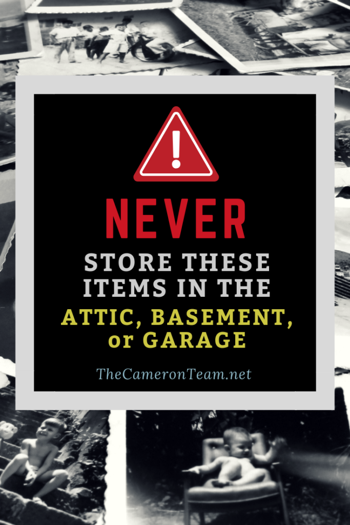 Never Store These Items in the Attic Basement or Garage
