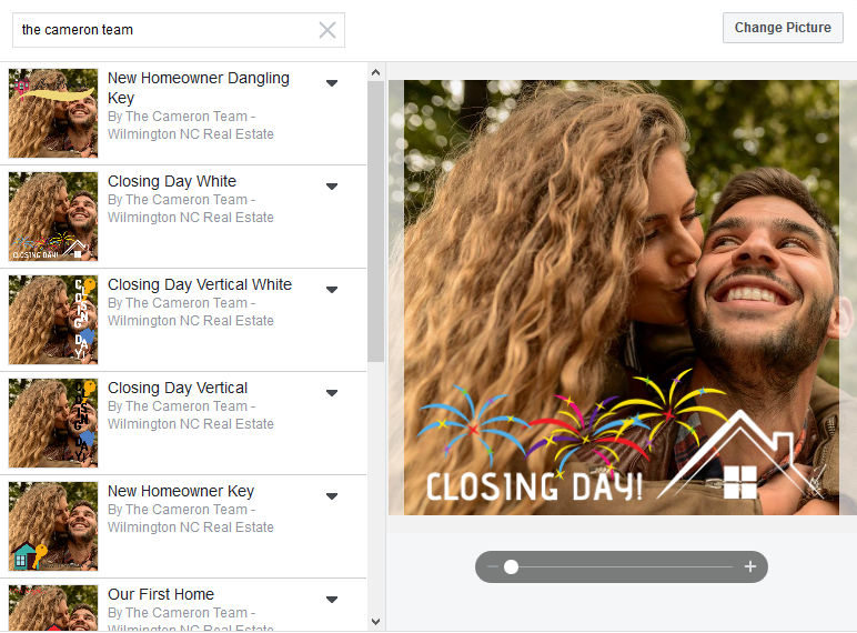 Closing Day Facebook Frame