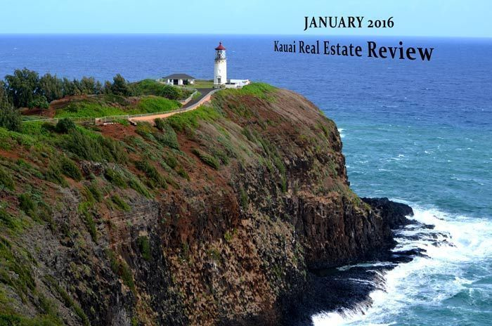 real estate kauai sales in january