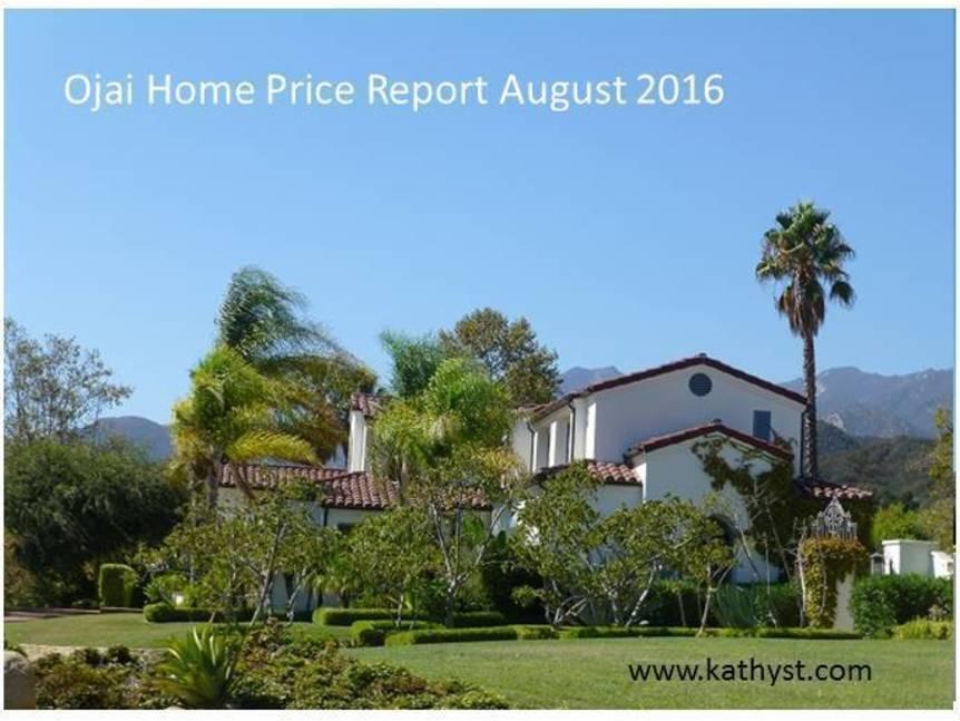 Ojai Home Price Report August 2016 example of ojai home