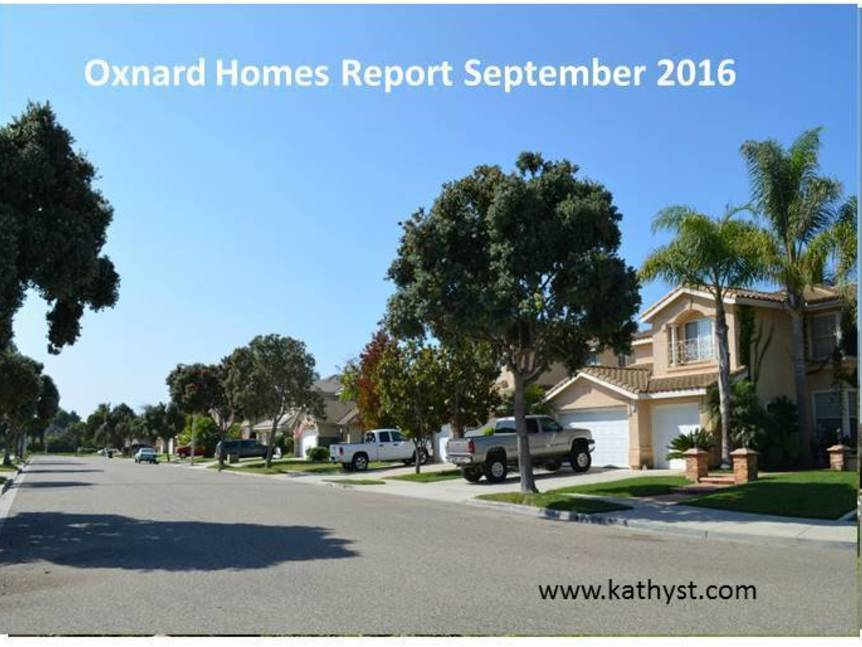 Oxnard Homes Report September 2016 top pic
