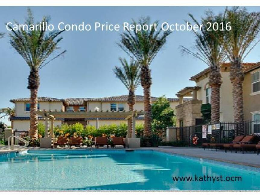 Camarillo Condo Price Report October 2016