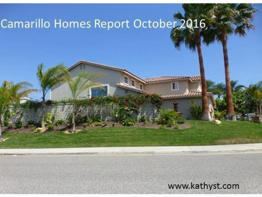 Camarillo Homes Report October 2016