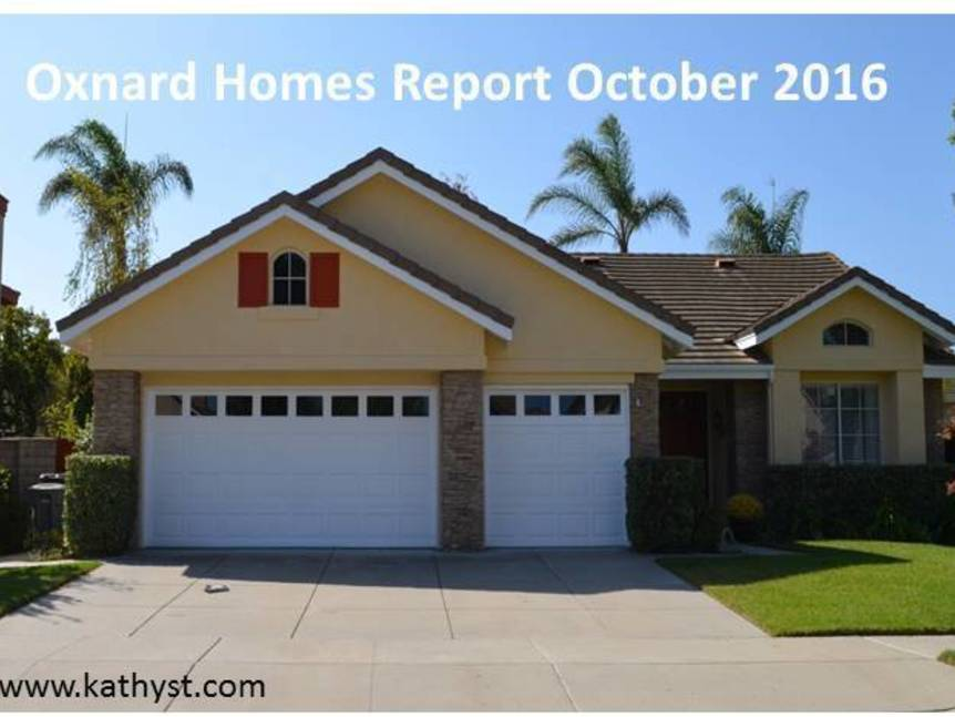 Oxnard Homes Report October 2016 example of home