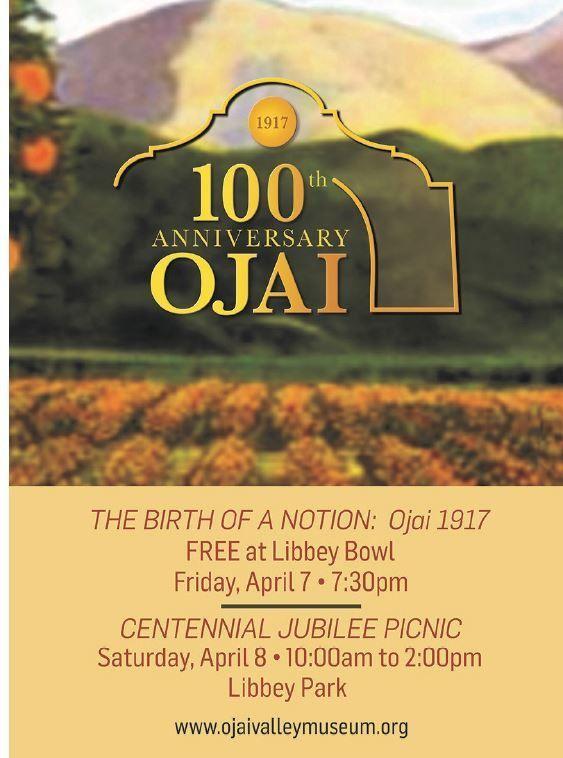 Ojai Celebrates 100 Years postcard