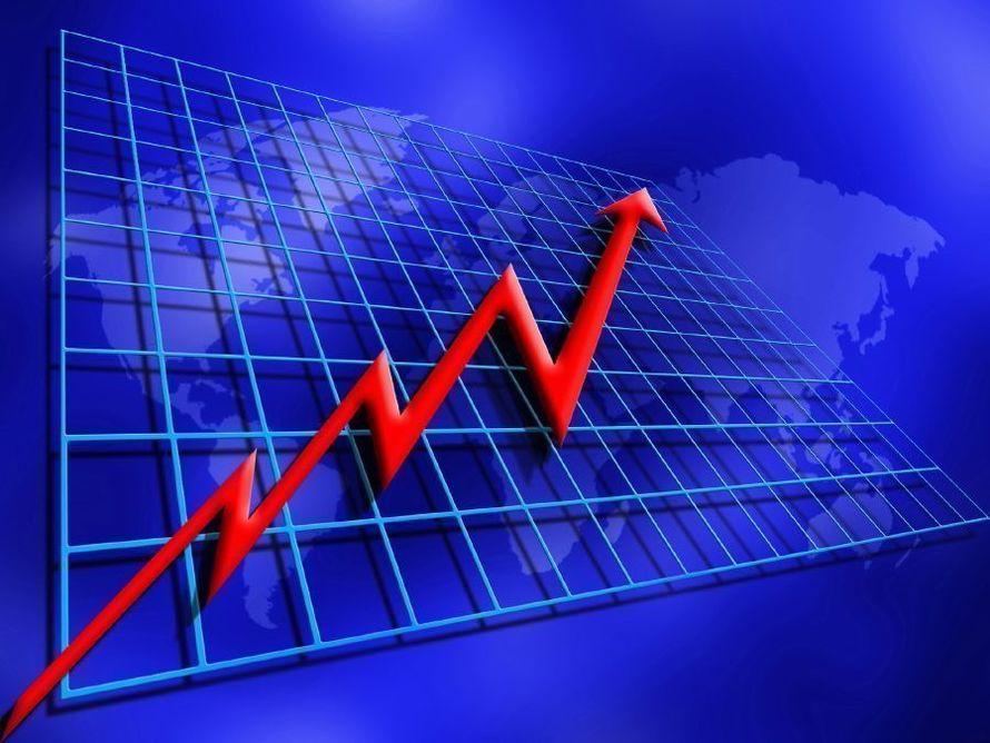 Background depicting rising world profits