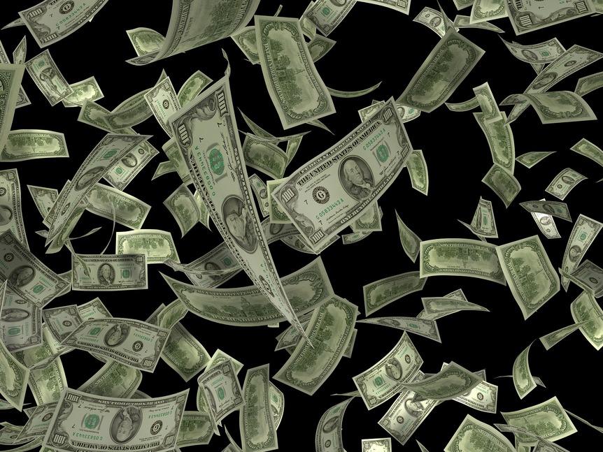 dollars-flying