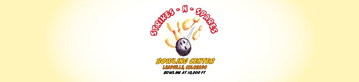 Pale yellow header image with logo in center: a bowling ball hitting pins with the words